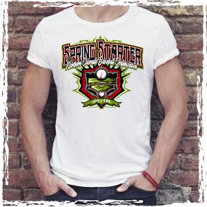4c0fe94dd Spring Baseball Tournament T-Shirt – Vector Design Template. Easy to Edit  ...