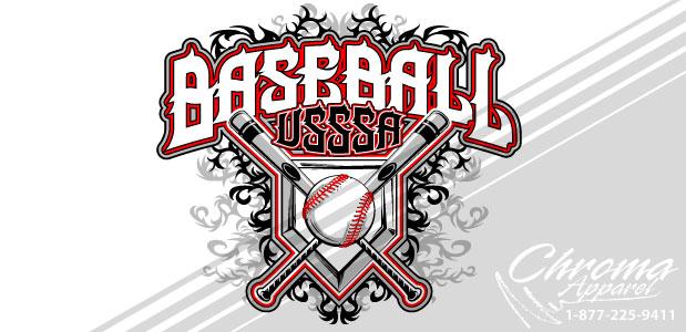 Baseball Shirt Design With Tribal Background