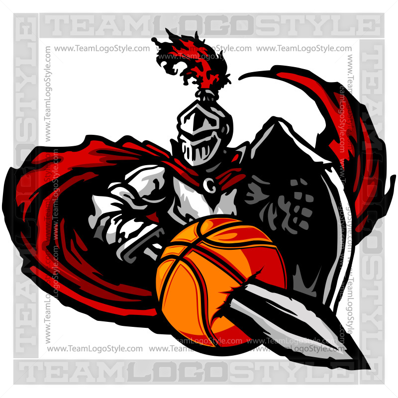 knight basketball graphic vector clipart knight