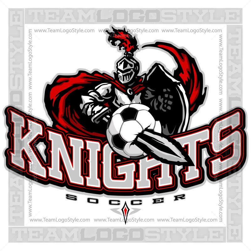 knights soccer logo vector knight team logo