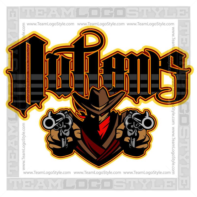 outlaws team logo vector outlaw team logo
