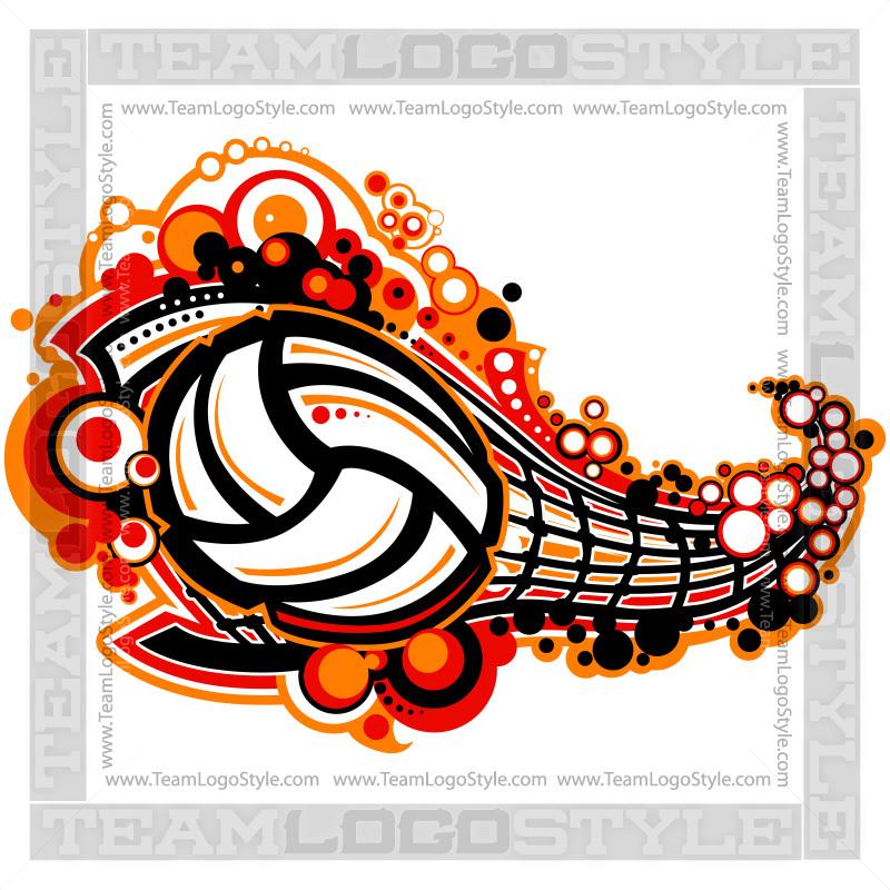 Volleyball Logo Vector Clip Art Volleyball Net