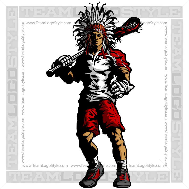 Warrior Lacrosse Silhouette u2013 Indian Warrior Clipart Image