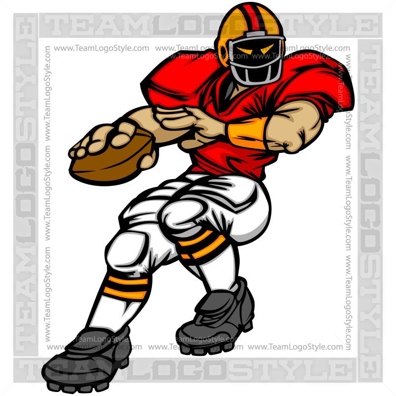 Quarterback Cartoon Vector Clipart Quarterback