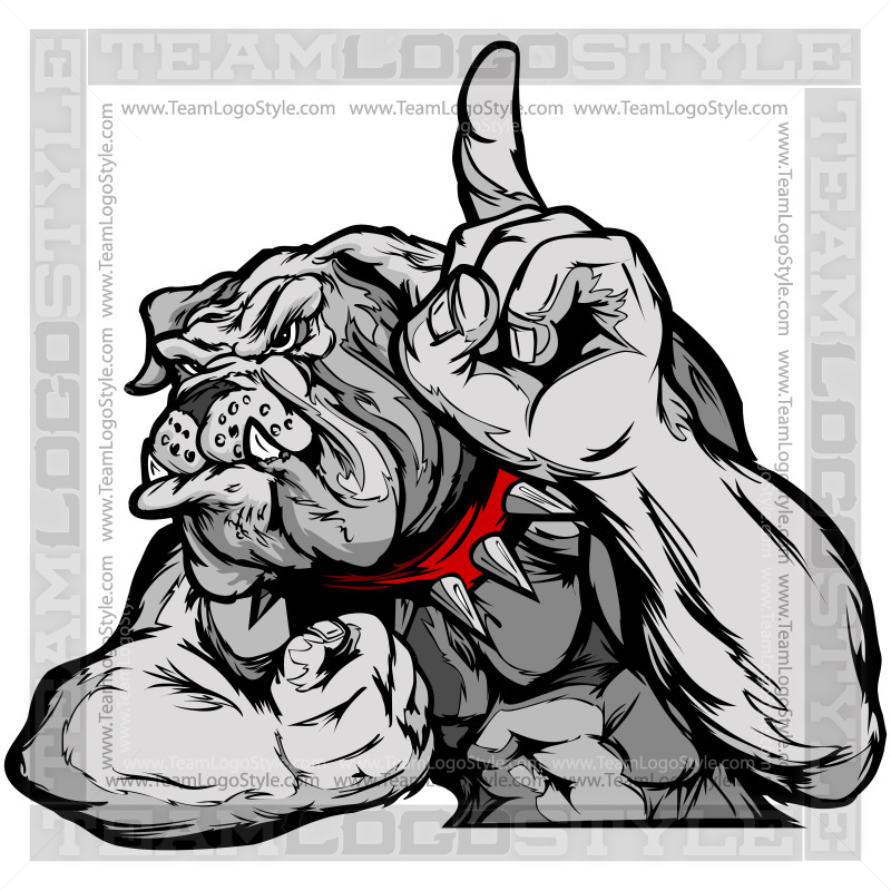 Strong Cartoon Bulldog Vector Clipart Bulldogs