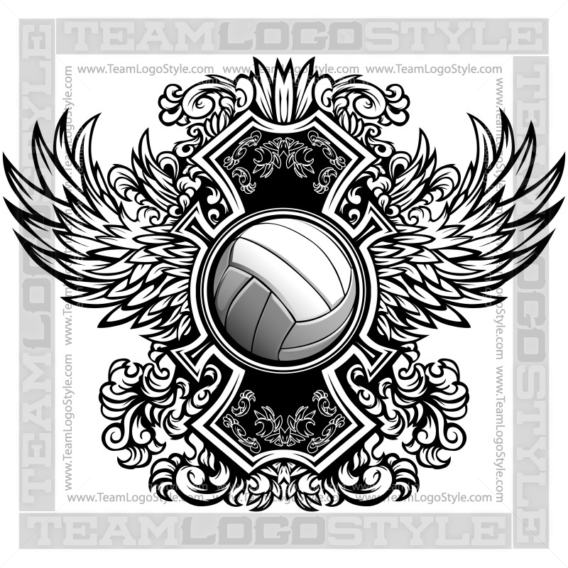 Volleyball Logos Clipart