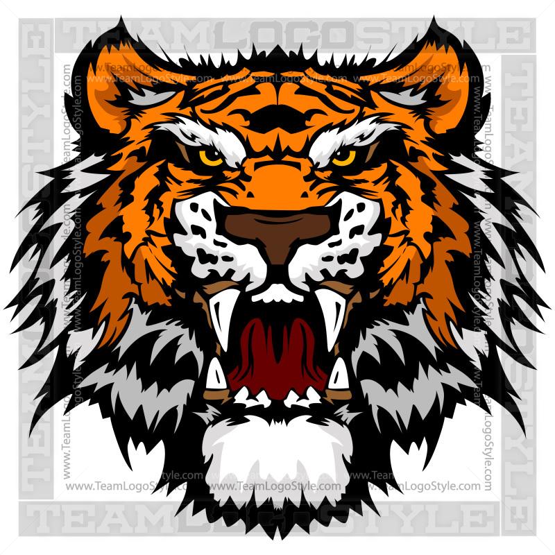 mascot tiger head vector clipart tiger