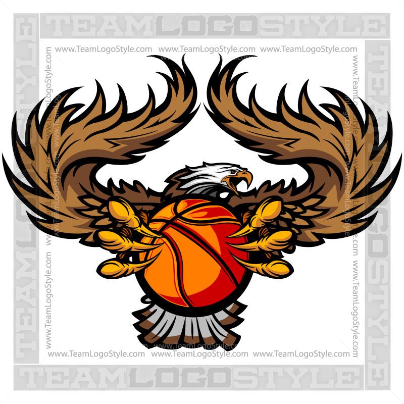 eagle basketball logo vector clipart eagle wings