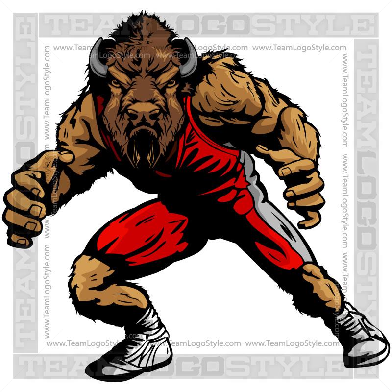 Buffalo Wrestling Clip Art Vector Clipart Buffalo