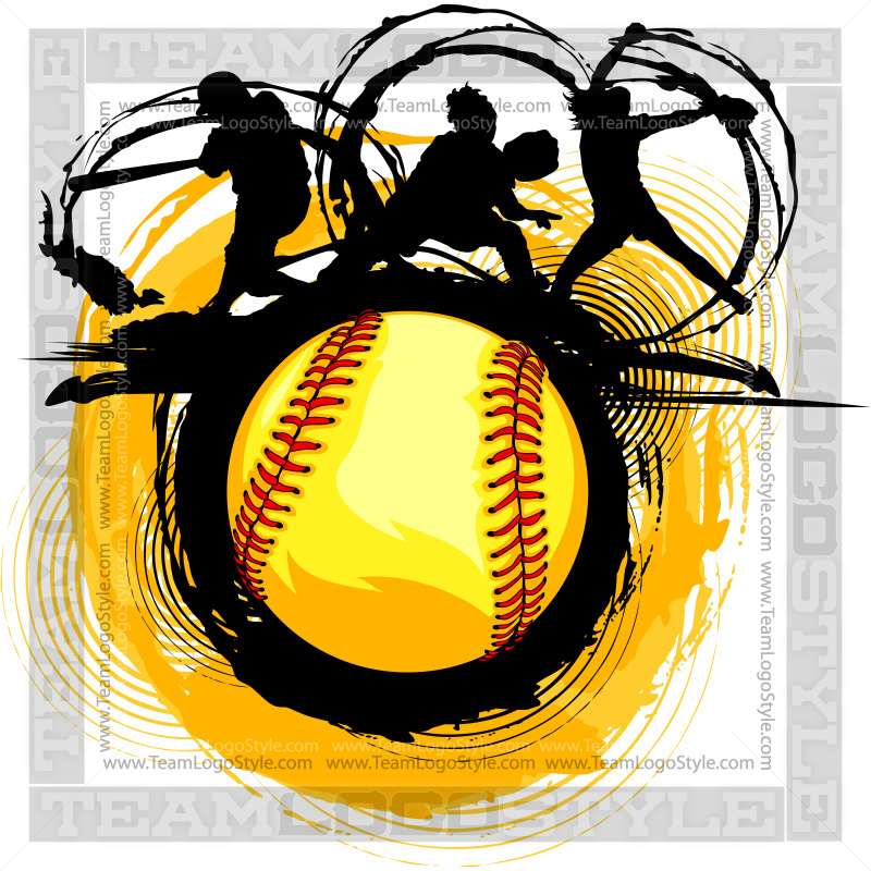 Fastpitch softball. Fast pitch design vector
