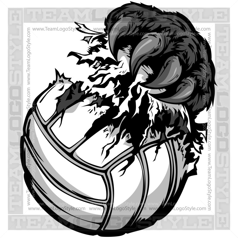 panther claw tearing volleyball vector clipart panther claw Bear Claw Outline Tribal Bear Claw Graphic