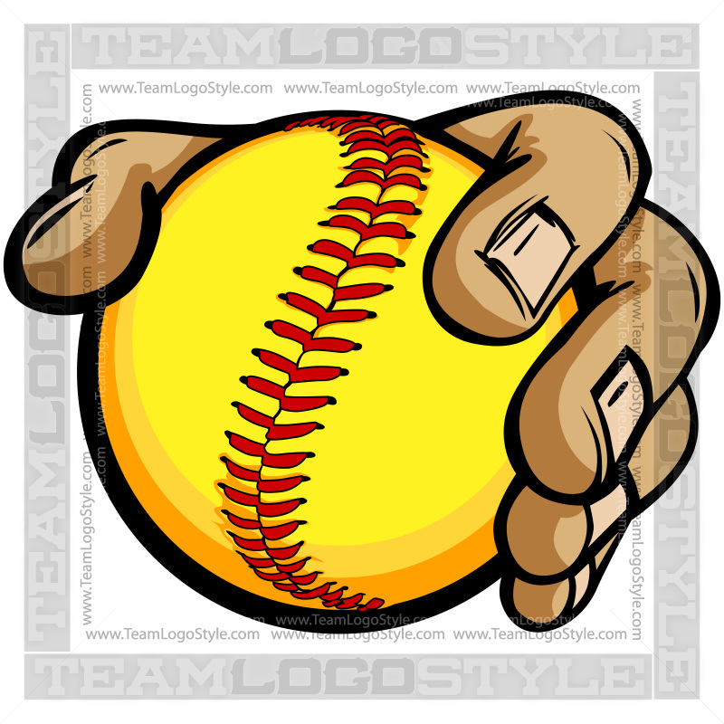 hands holding softball cartoon vector clipart hands holding softball rh teamlogostyle com softball clipart free download