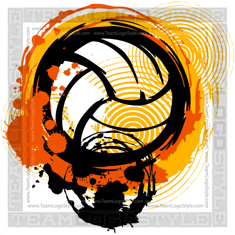 Volleyball graphic design