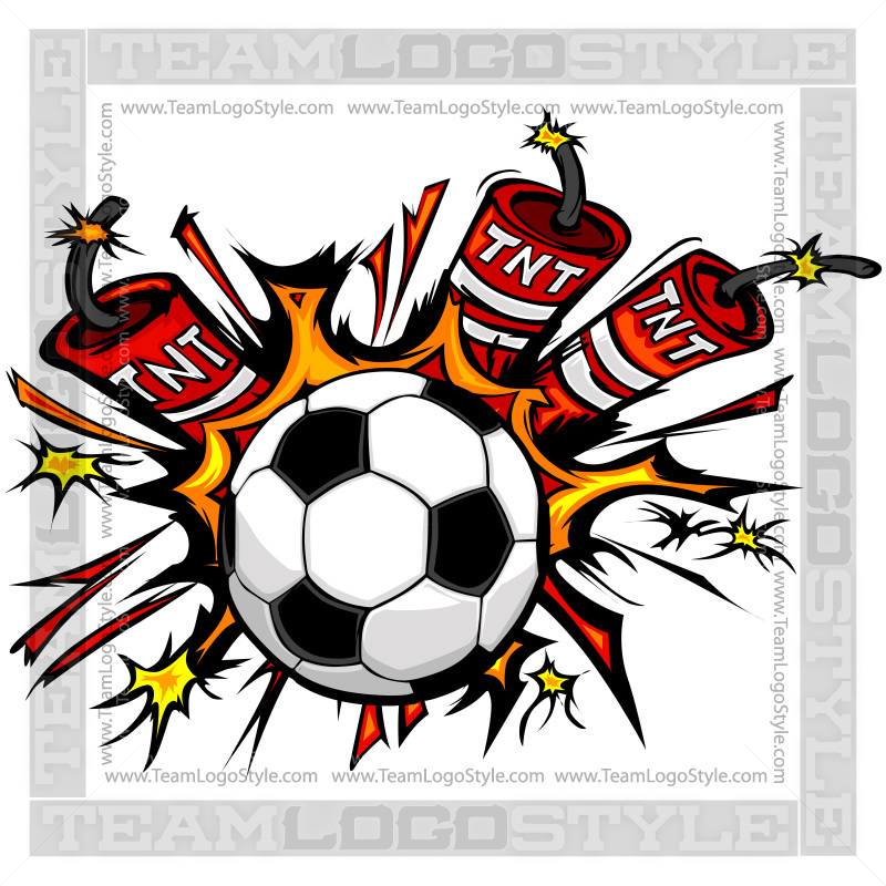 Dynamite Soccer Logo - Vector Clipart Soccer