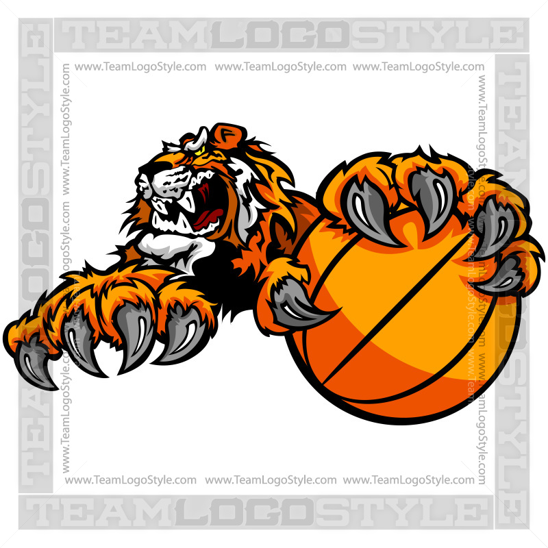 tiger basketball clip art vector clipart tiger