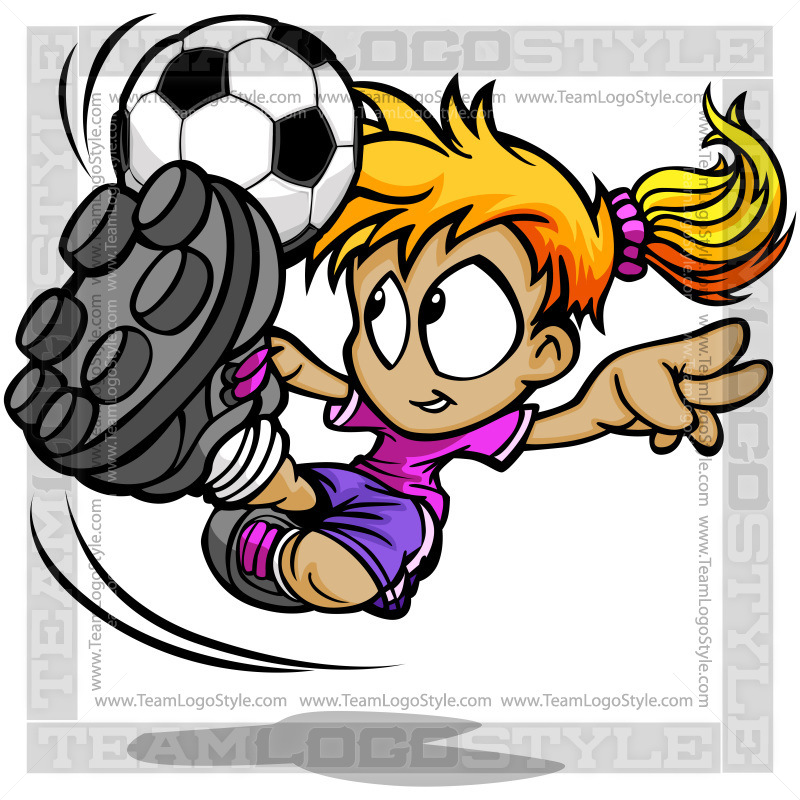 soccer girl clip art vector clipart player