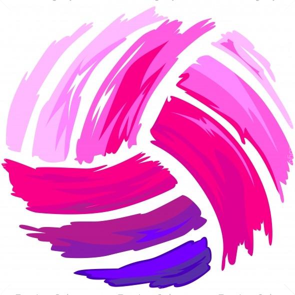 Pink Volleyball Shirt Art - Vector Clipart Pink Design