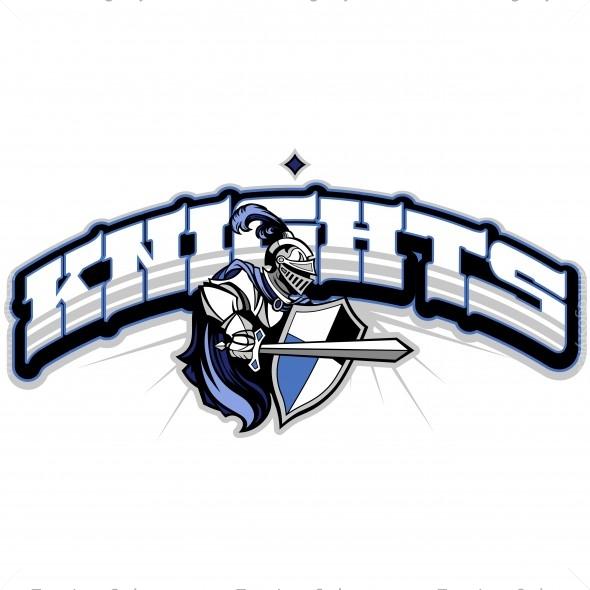 knights team logo vector clipart knights