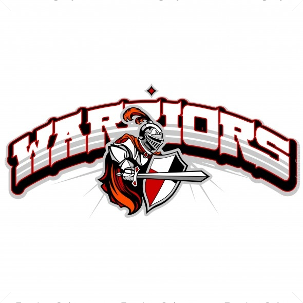 Warriors Team Logo - Vector Clipart Warriors
