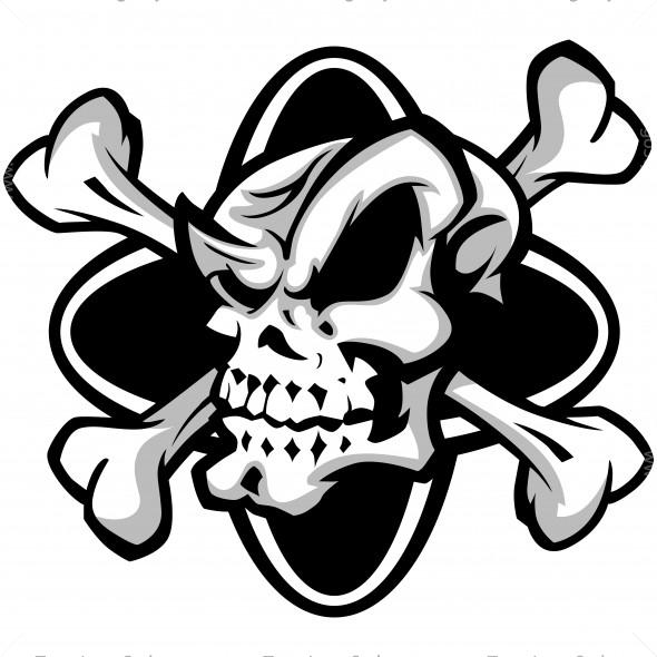 jolly roger clip art vector clipart skull crossbones rh teamlogostyle com cartoon jolly roger clipart jolly roger clipart