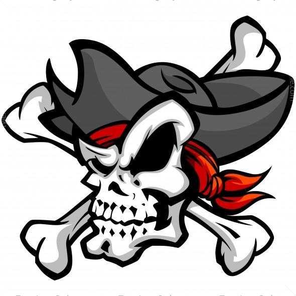 vector pirate skull vector clipart skull amp crossbones