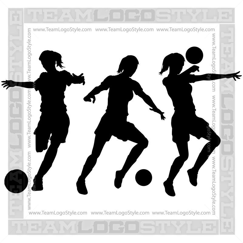 girls soccer clipart vector clipart girls playing soccer