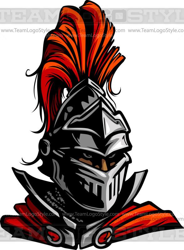 vector knight head vector clipart knight
