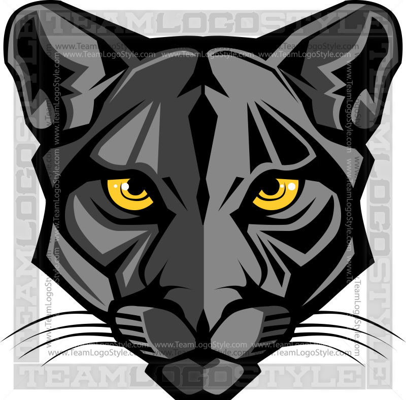 panther head graphic vector clipart panther