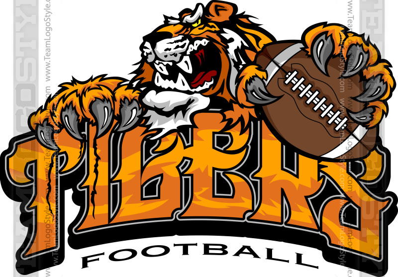 tiger football logo vector clipart tigers