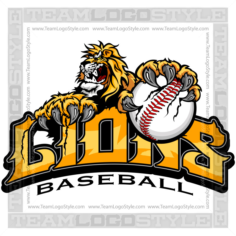 Lions Baseball Graphic Vector Clipart Lion