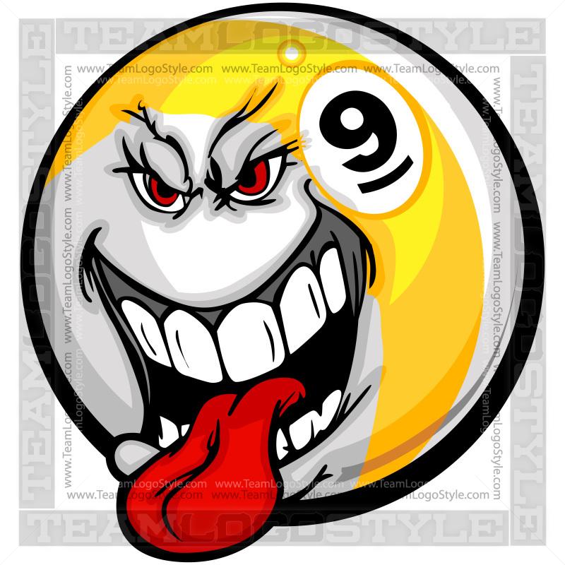 Nine Ball Clipart Vector Clipart Nine Ball
